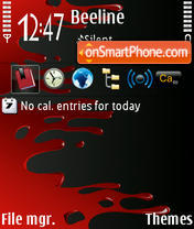Bloody theme screenshot