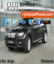BMW X6 theme screenshot