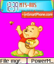 Animated Pooh 01 theme screenshot