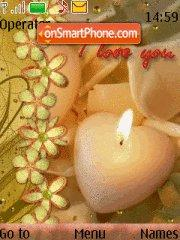 Candle Love tema screenshot