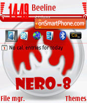Nero 8 Start Smart theme screenshot