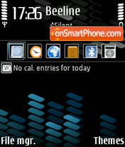 Xpress Blue v2 3250 theme screenshot