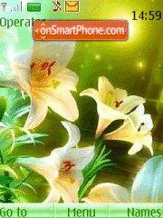 White Lillies tema screenshot