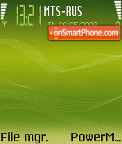 Green Music Edition 6630 theme screenshot