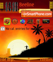 Happy Sunset s60v3 theme screenshot