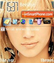 Hilary Duff 05 theme screenshot