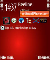 Red Black theme screenshot