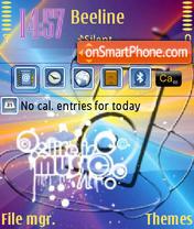 Life is Music V2 QVGA theme screenshot