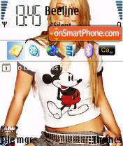 Hilary Duff 06 theme screenshot