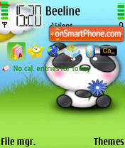 Cute Babu Bear es el tema de pantalla