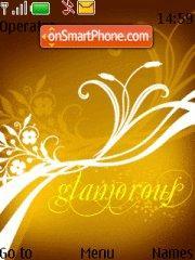 Glamorous 01 theme screenshot