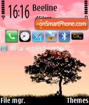Red Sky theme screenshot
