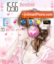 Girl Love Musik theme screenshot