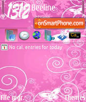 Think Pink tema screenshot