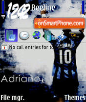 Adriano tema screenshot