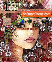 Girl_And_Flowers tema screenshot