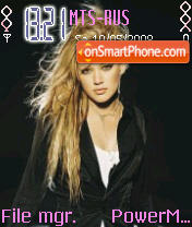 Hilary Duff 15 theme screenshot