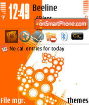 Abstract Orange theme screenshot