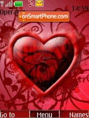 Red Hearts theme screenshot