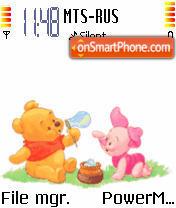 Animated Baby Pooh theme screenshot