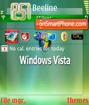 Vista 2 Green theme screenshot