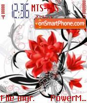 Abst Red Flower theme screenshot