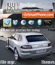 Porsche Cayenne Luxury Car es el tema de pantalla