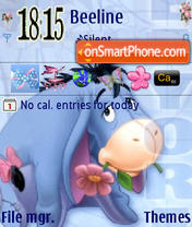 Sweet Eeyore tema screenshot