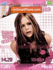 Скриншот темы Avril Lavigne 08