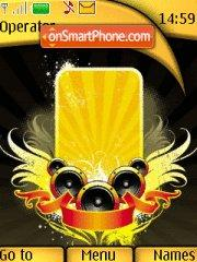 Yellow Music tema screenshot