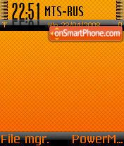 Capture d'écran BlackOrange thème