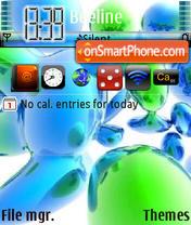 My blue bubbles theme screenshot