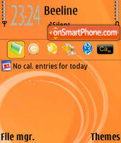OrangeSlush theme screenshot