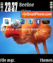 Scarybird theme screenshot