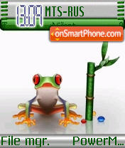Crystal Frog theme screenshot