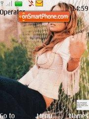 Lindsay Lohan 05 theme screenshot
