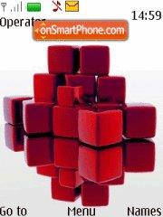 Red Cubes theme screenshot