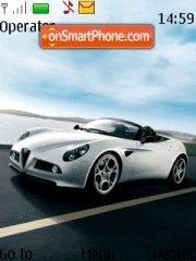 Alfa Romeo 8c Spider theme screenshot