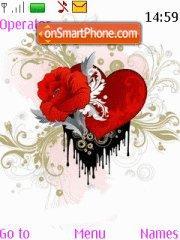 Rose Heart 01 es el tema de pantalla