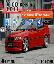 BMW 320 theme screenshot