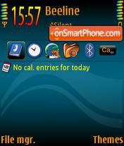 Blue Orange Waves theme screenshot