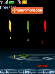 Rainy Digital Clock theme screenshot