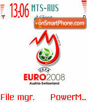 Euro 2008 White theme screenshot