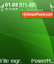 Glossy Green S60V2 theme screenshot