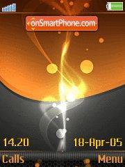 Скриншот темы Orange And Black