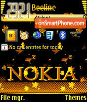 Скриншот темы Nokia Gold Edition