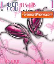 Скриншот темы Abst Butterfly