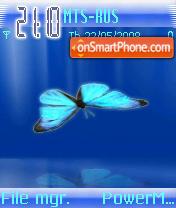 Скриншот темы Butterfly Blue
