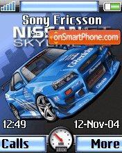 Nissan Skyline Gtr 05 es el tema de pantalla