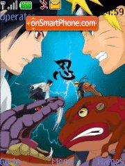 Скриншот темы Sasuke vs Naruto